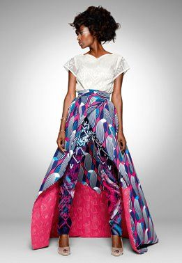pass  on that top-simple white tank and funky jewels for me!  vlisco fashion  African style