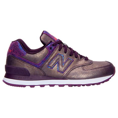 Classical Womens Casual Shoes - New Balance 574 Mineral Glow Grey/Blue