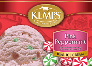 Kemps Pink And Green Peppermint Ice Cream