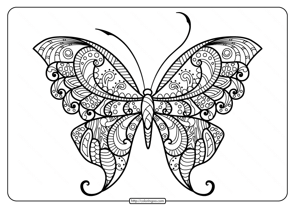Printable Butterfly Mandala Pdf Coloring Pages 47 In 2020 Butterfly Mandala Butterfly Coloring Page Butterfly Printable