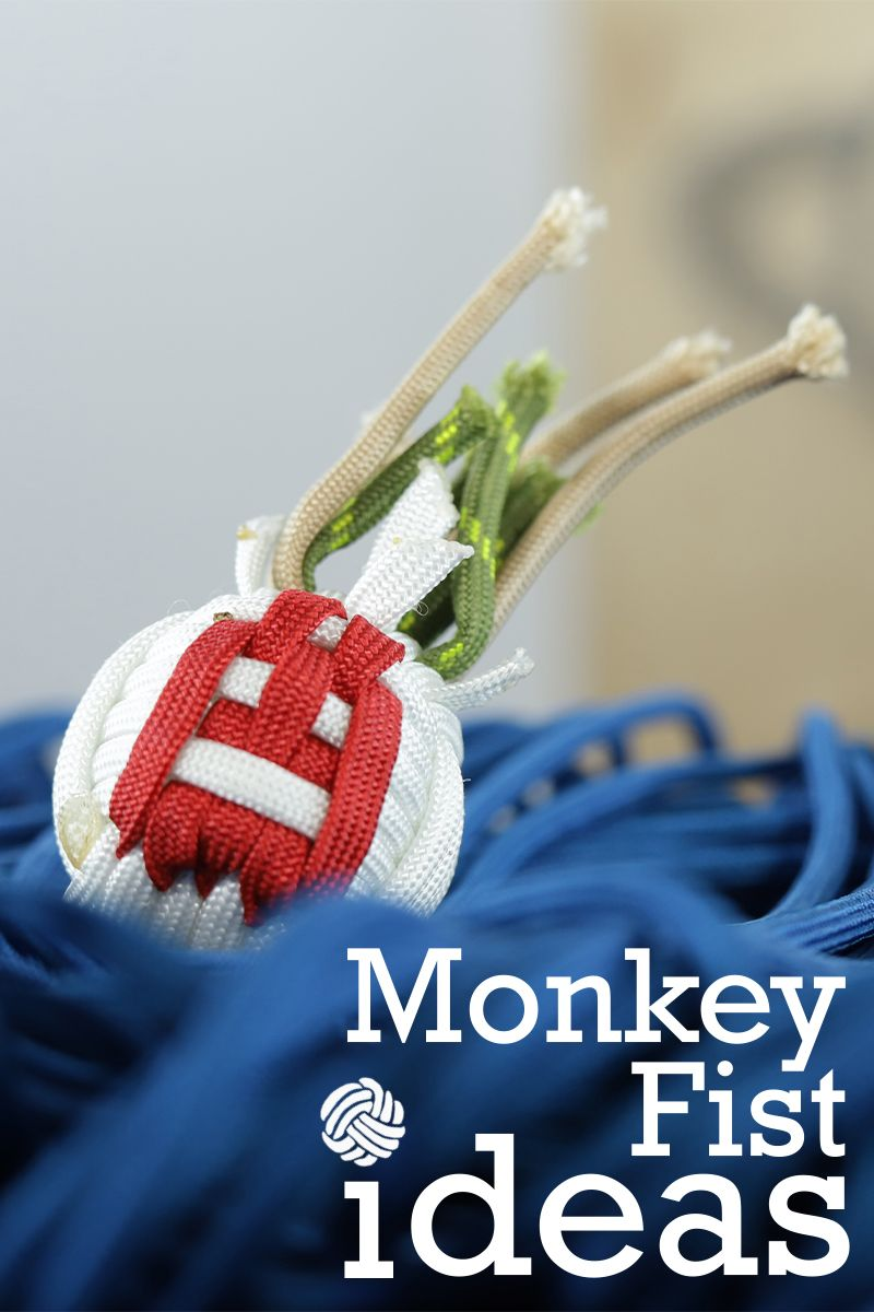 Monkey Fist Ideas Monkey fist knot, Paracord projects
