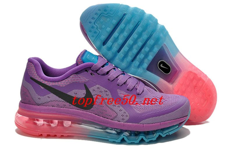 brand new 4272e f8ce9 f207a0 Purple Jade Pink Black Nike Air Max 2014 Women s Running Shoes