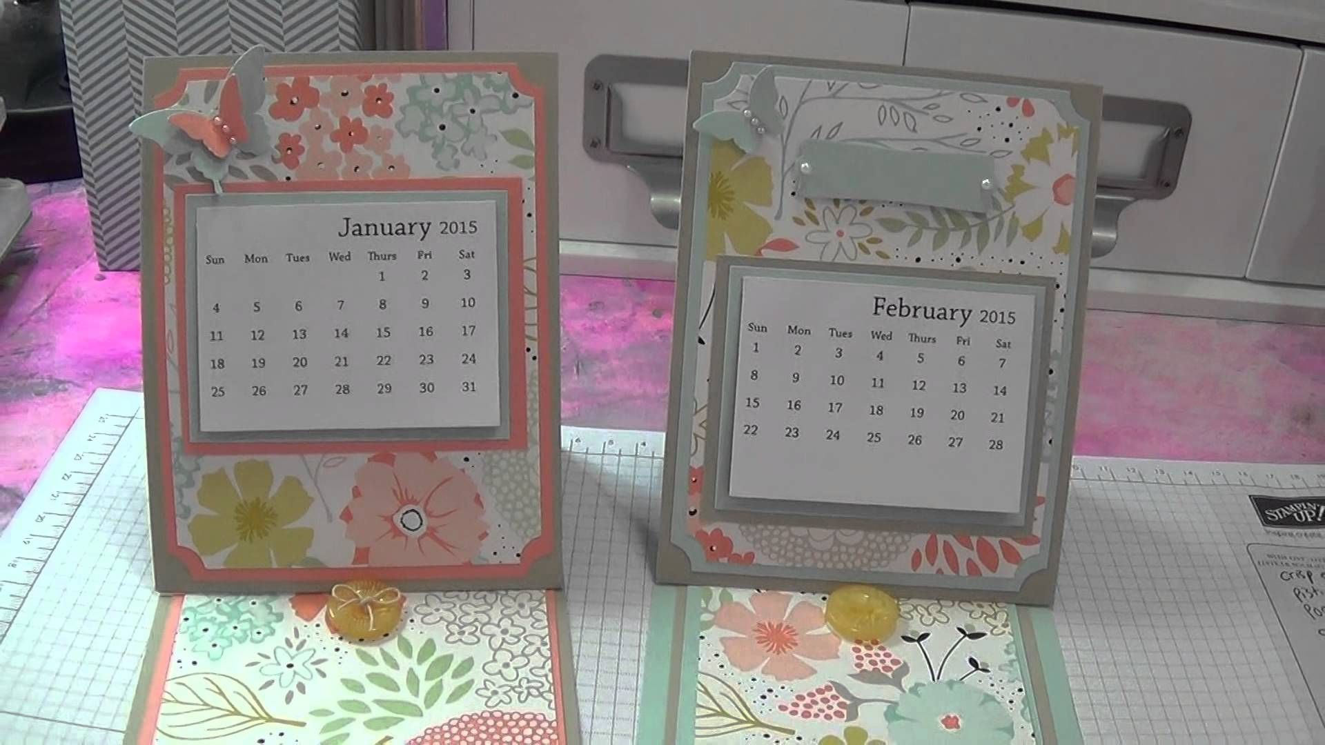 Acalendar Anleitung 2015 calendar/easel card w/stampin' up! products | easel
