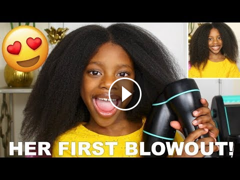 I LET RAEGAN DO HER OWN HAIR! HER FIRST BLOW OUT USING THE
