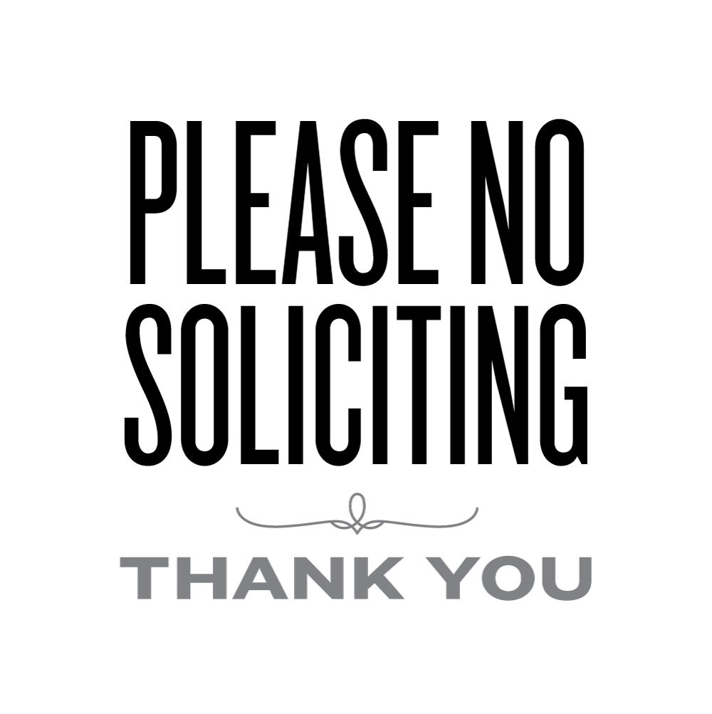 graphic about Printable No Soliciting Sign identify Remember to No Soliciting Lemon Squeezy Printables Fonts