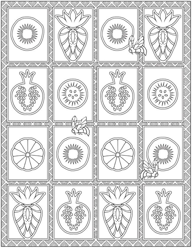 Creative Haven Farmers Market Designs Coloring Book | Dover ...