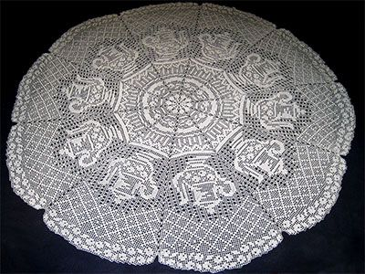Crochet Collection: Free Crochet Patterns For Round Tablecloths