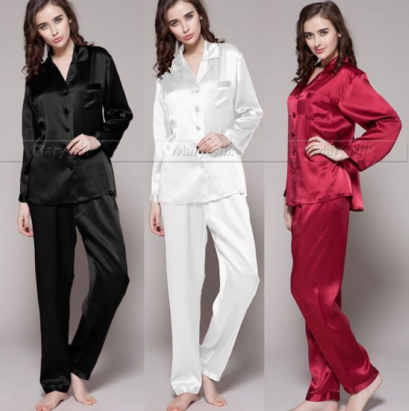 Cheap Regalo! satén de seda para mujer pijama pijamas Set pijamas pijamas  Set Loungewear s