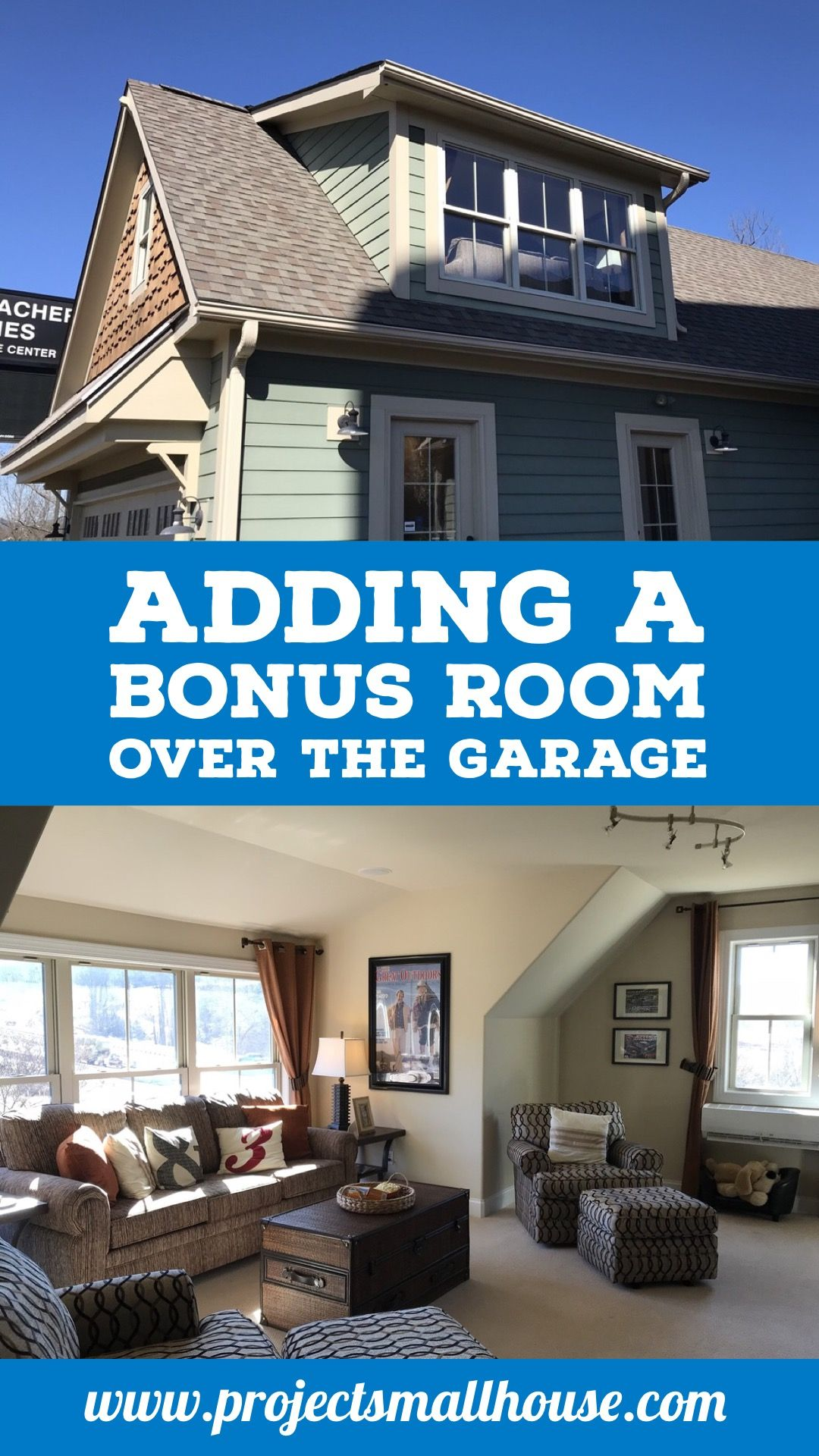 Adding A Bonus Room Over The Garage Project Small House Room Above Garage Garage Room Garage Floor Plans