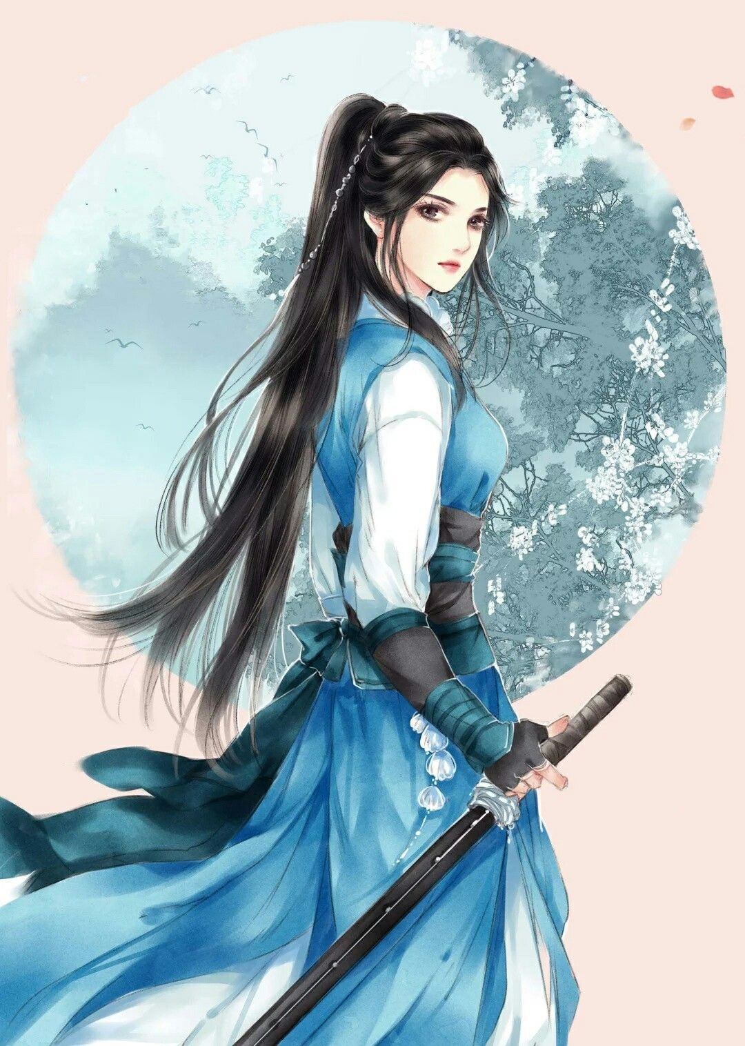 Reyna Delanoy Anime warrior, Chinese art girl, Anime