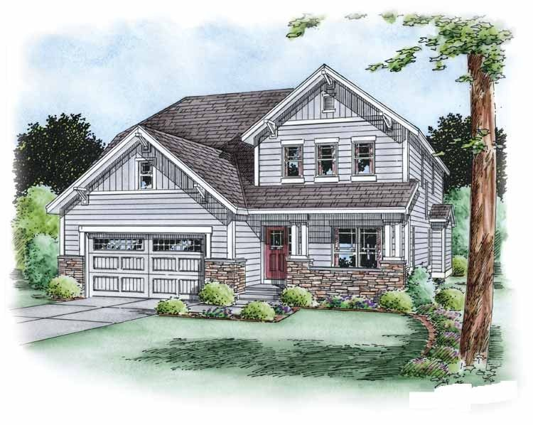 Traditional House Plan With 2168 Square Feet And 3