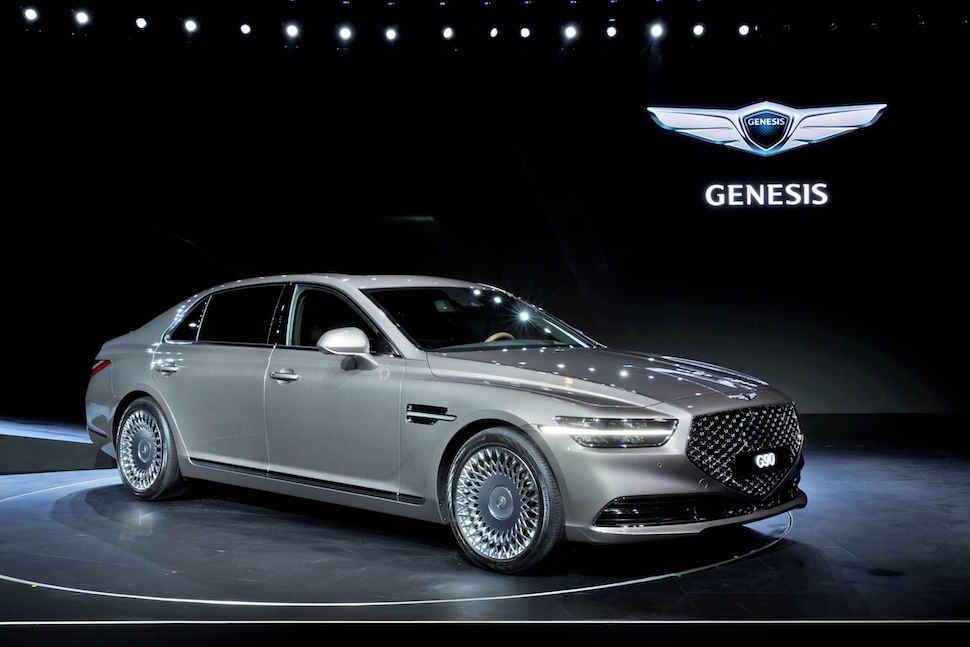 Redesigned 2020 Genesis G90 Arrives In Summer With More Upscale Feel Hyundai Genesis Hyundai Genesis