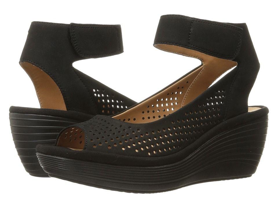 3a0e245316ba Clarks Reedly Salene Women s Sandals Black Nubuck