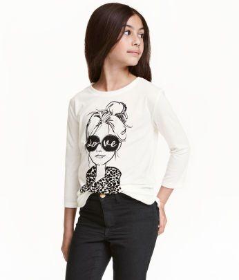 ee133db59 Niños | Niñas de 8 a 14 años | Tops y camisetas | H&M MX | Girls ...