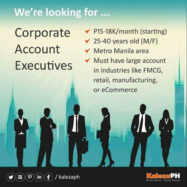 Send your resume to sales@kaleza.ph #JobFinder #jobfair #jobs ...