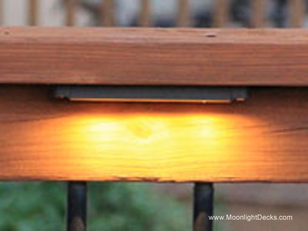 Deck Lighting Using Low Voltage Lighted Post Caps Under