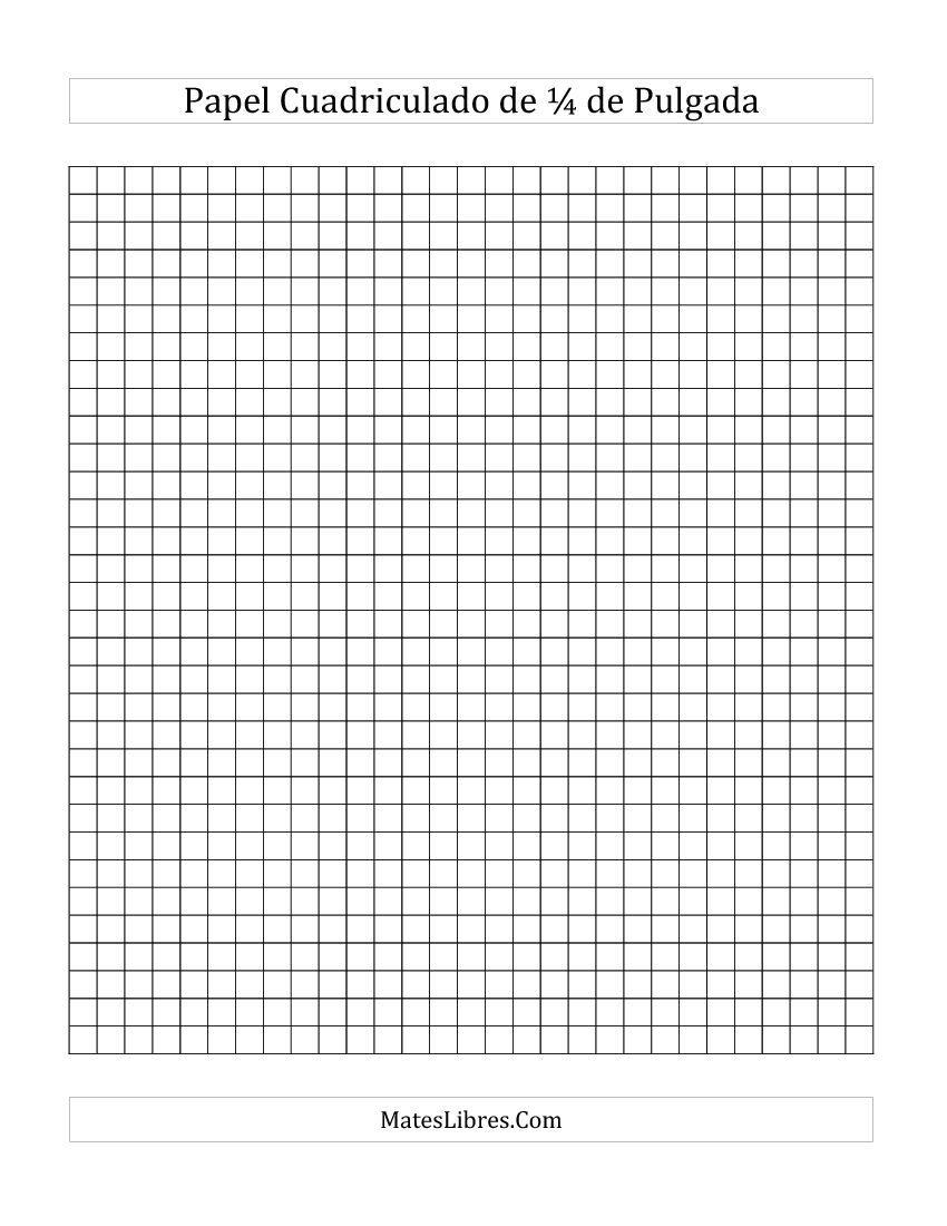 Papel Cuadriculado De 1 4 De Pulgada Todas Papel Cuadriculado Cuaderno Cuadriculado Cuadricula