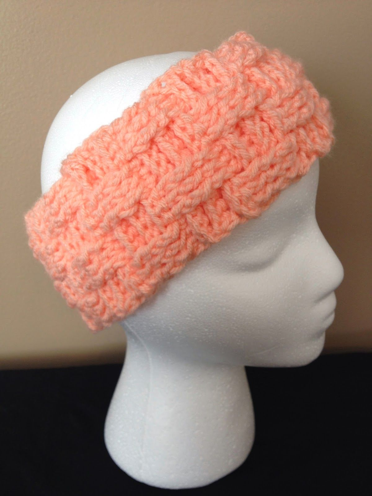 My Crocheted World: Basket Weave Ear Warmer Free Pattern ...
