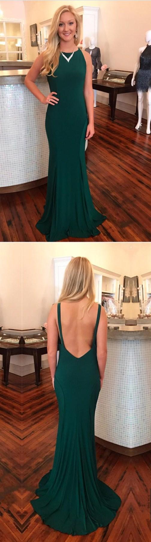 Prom dresslong prom dress open backlong prom dress mermaid dark