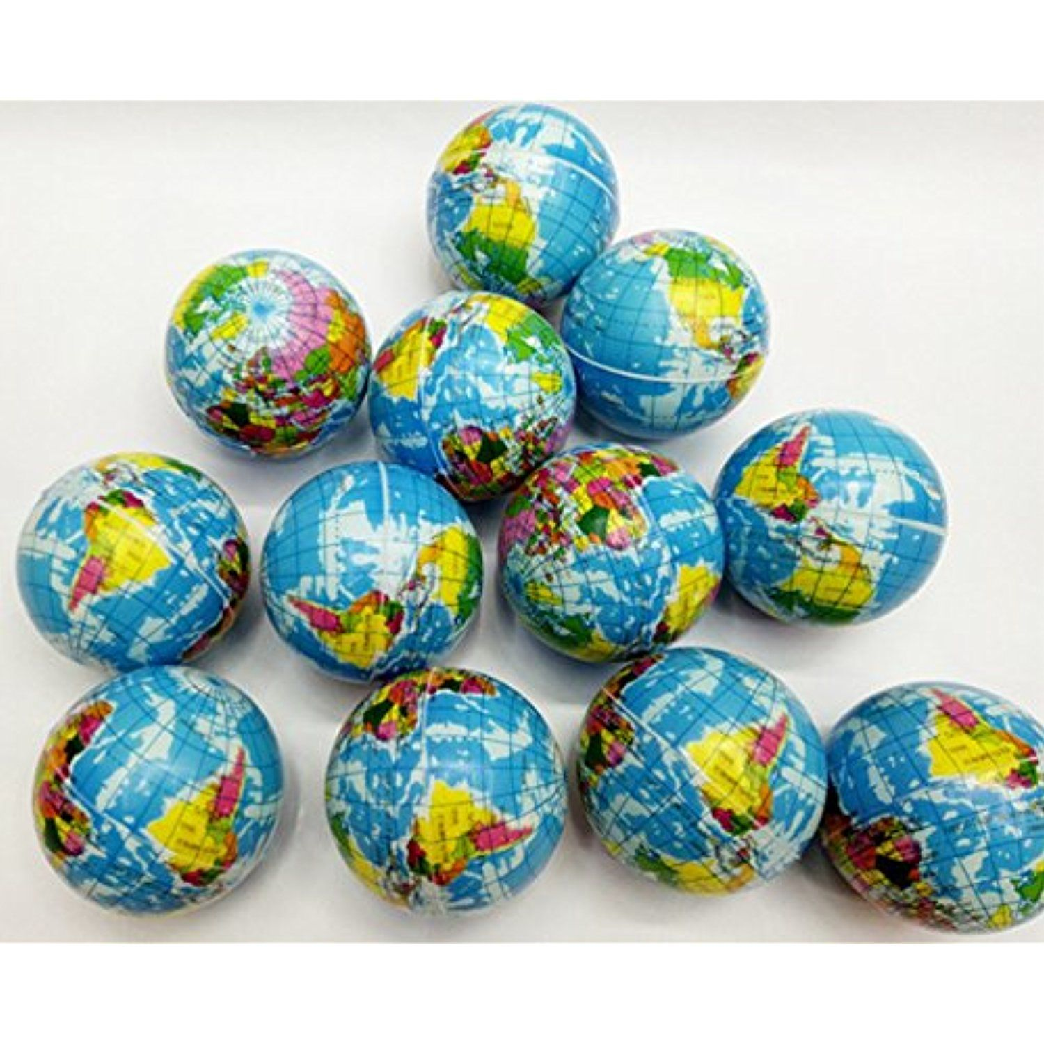 Janext Globe Earth World Map Squeeze Stress Balls