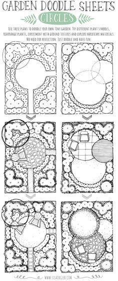 Mar 22 Garden Doodle Sheets: Circles