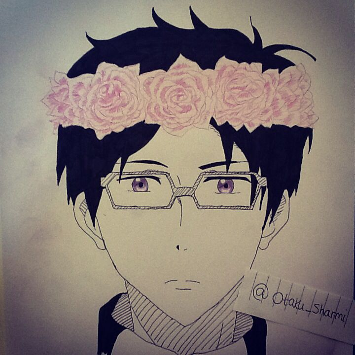 Rei Ryugazaki flowercrown !!! Free Iwatobi swim club! Next is gonna be Makoto!(ノ◕ヮ◕)ノ*:・゚✧