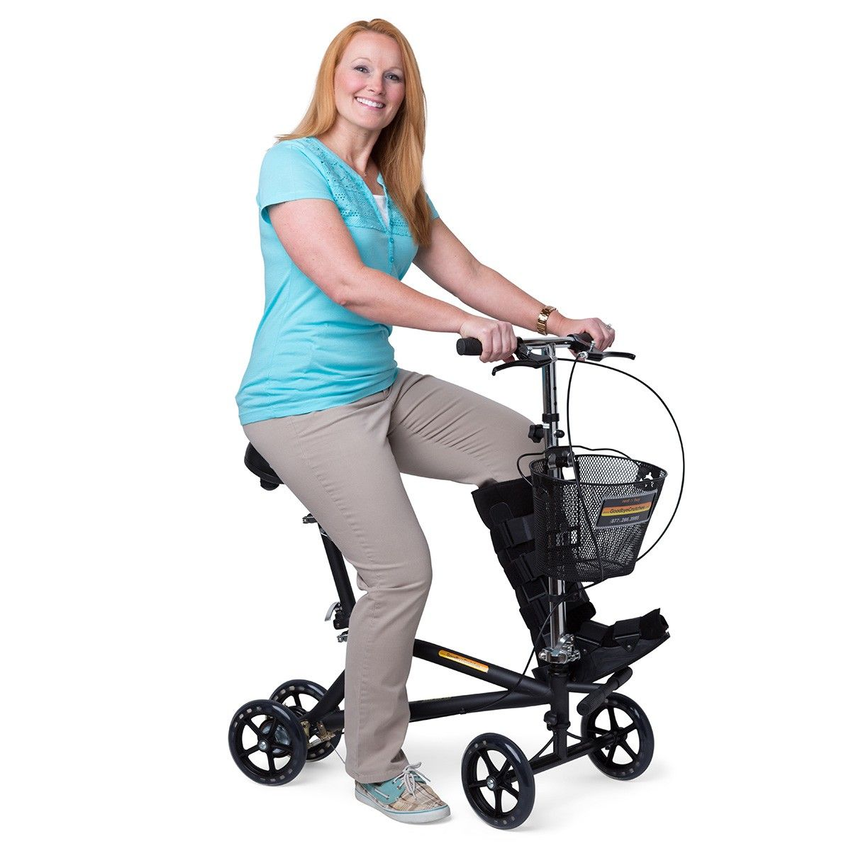 Rolling Knee Walker With A Seat With Images Knee Scooter Knee