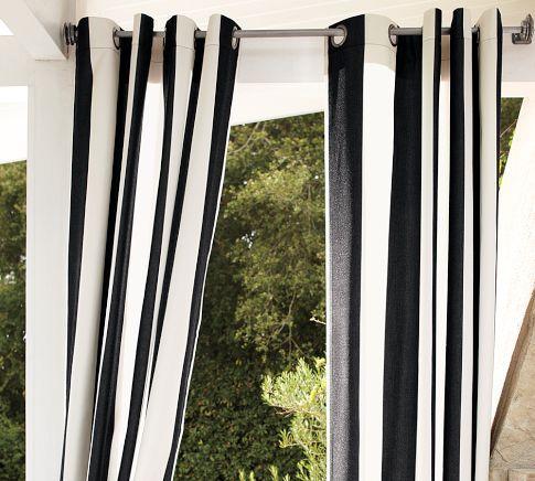 Sunbrella Indoor Outdoor Grommet Drape Outdoor Curtains Outdoor Drapes Outdoor Grommet Curtains