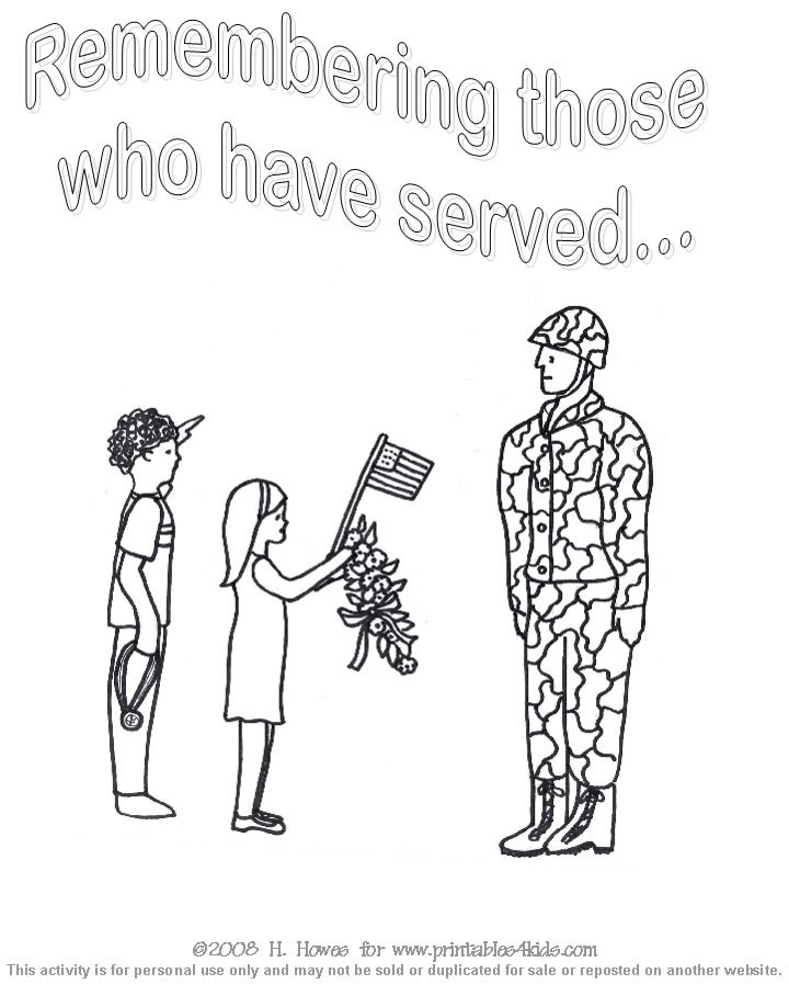 Veteran\'s Day coloring page | Art Projects Veterans Day | Pinterest ...