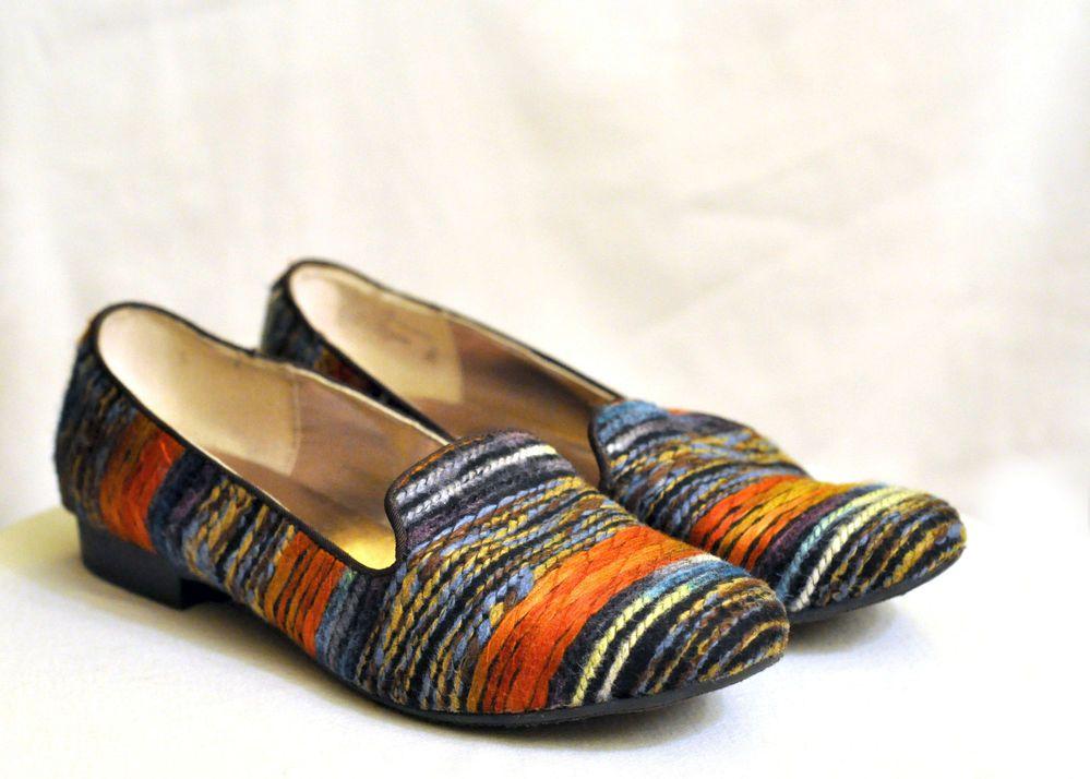 Steve Madden Wool Red, Orange, Blue, Green Striped Loafers / Flats Size 11 M #SteveMadden #LoafersMoccasins