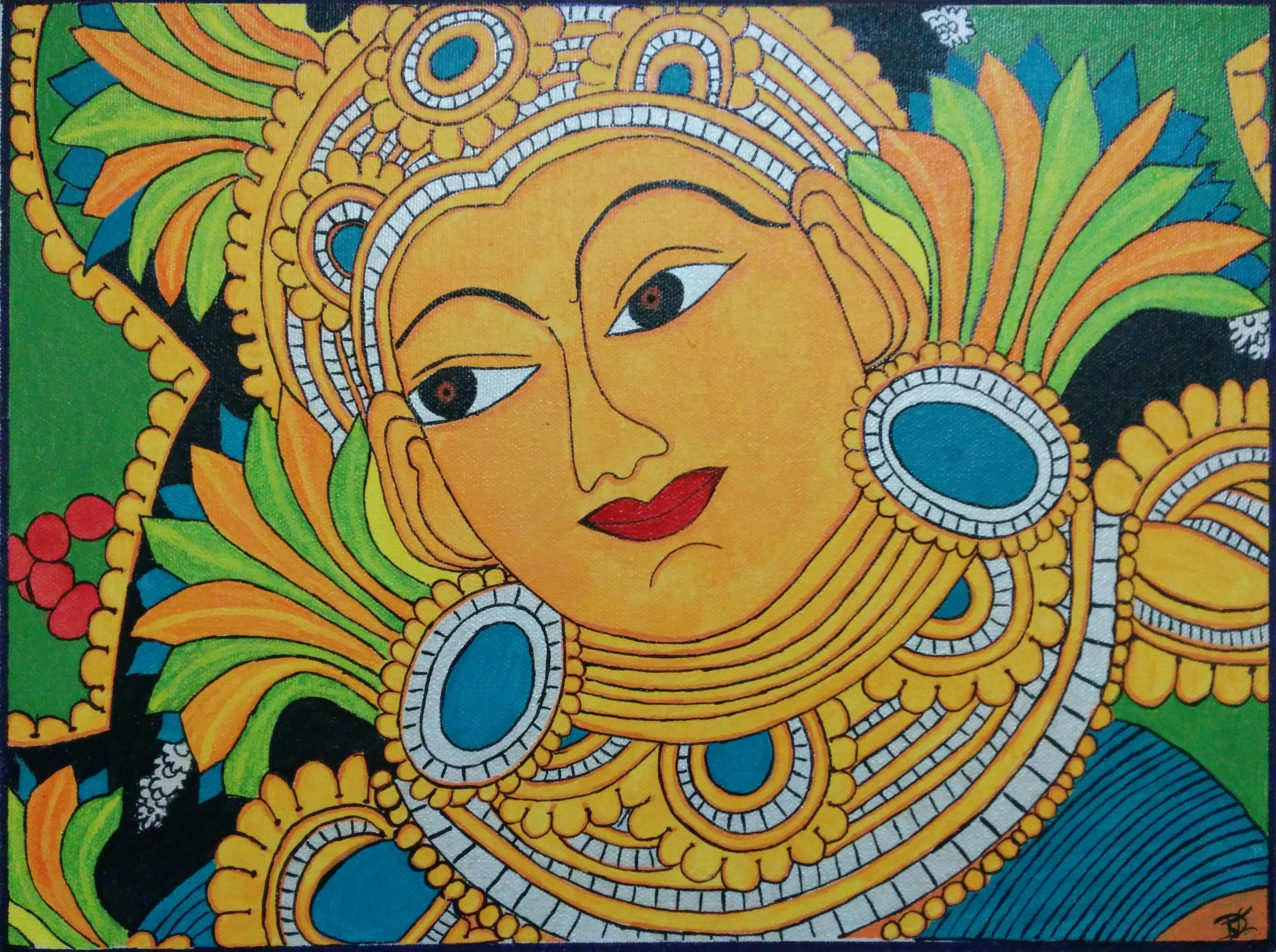 Kerala Mural Painting | Mural painting, Pencil art and Paintings
