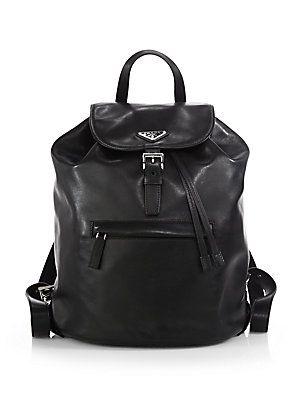c5256ad1c69c86 Prada Soft Calf One-Pocket Backpack - Nero-Black | Products