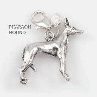 Pharaoh Hound Dog Charm 3-D Solid Sterling Silver Pendant http://www.2012survivalaid.com/dog-breed-charms-.html