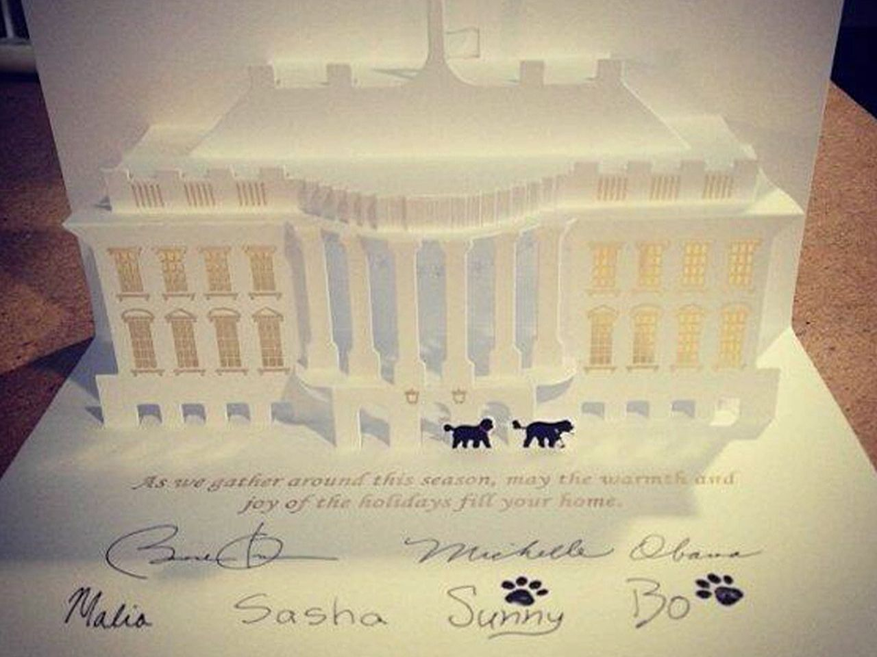 White House Christmas card stars dogs Bo and Sunny | Its Christmas ...