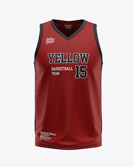 Download Mens V-Neck Basketball Jersey Mockup Front View (PSD ...