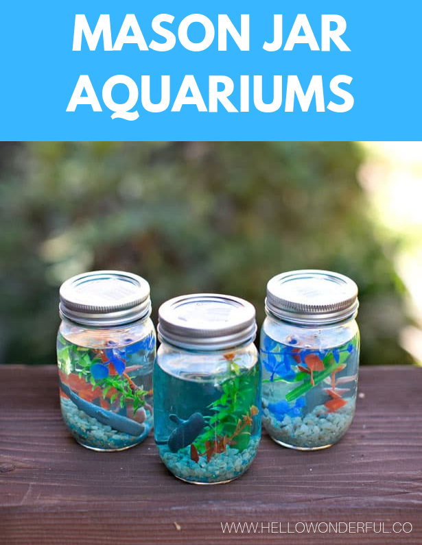 Find Out How To Make These Mason Jar Aquariums Easy And Fun Under