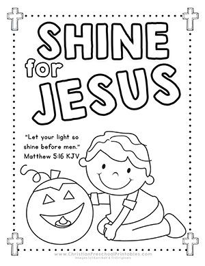 Halloween Bible Printables For Outreach Ministry Shine Jesus Let Your Light Before