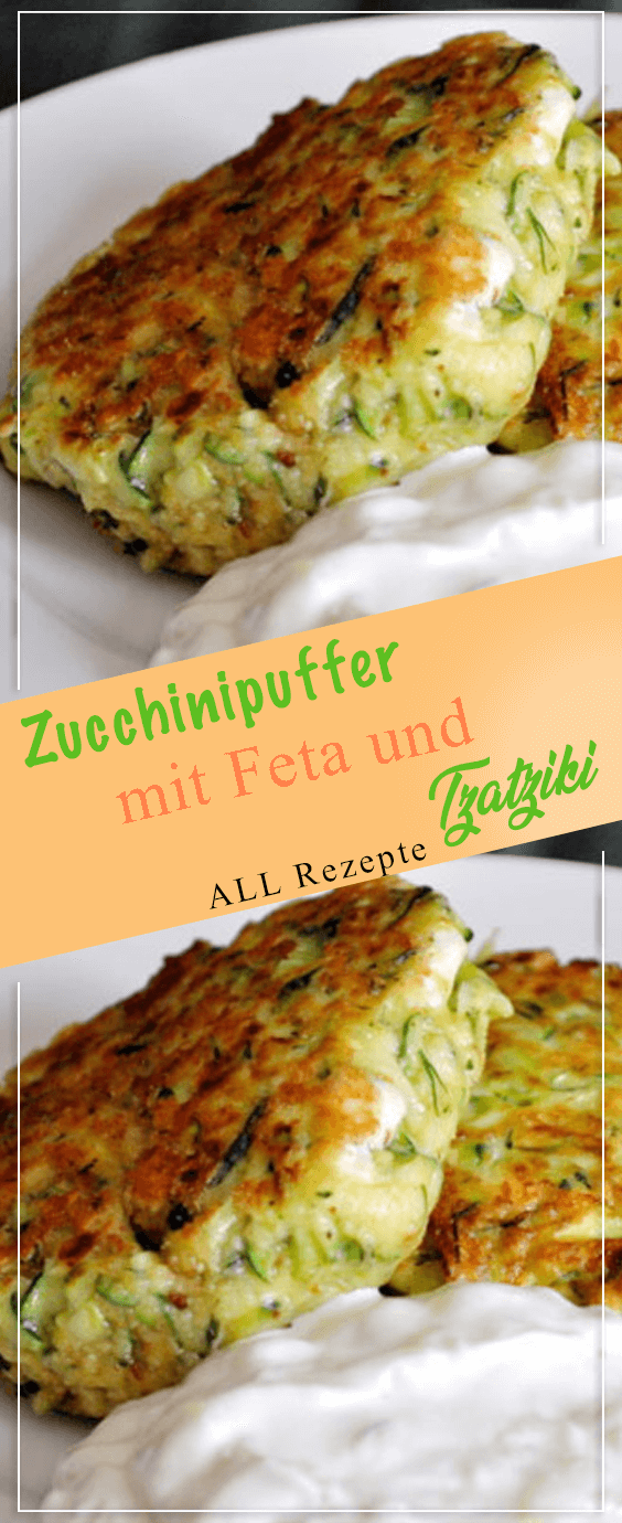 Photo of Fluffy thaler to soak up: zucchini pancakes with feta and tzatziki – all recipes …