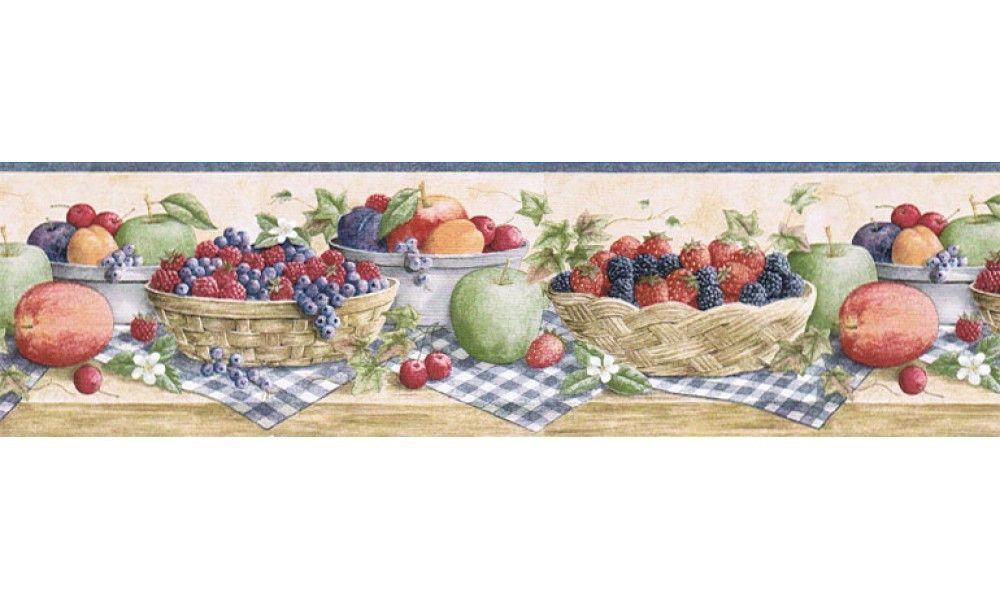 Fruits Cj80023b Wallpaper Border Wallpaper Border Kitchen Wallpaper Border Fruit Wallpaper