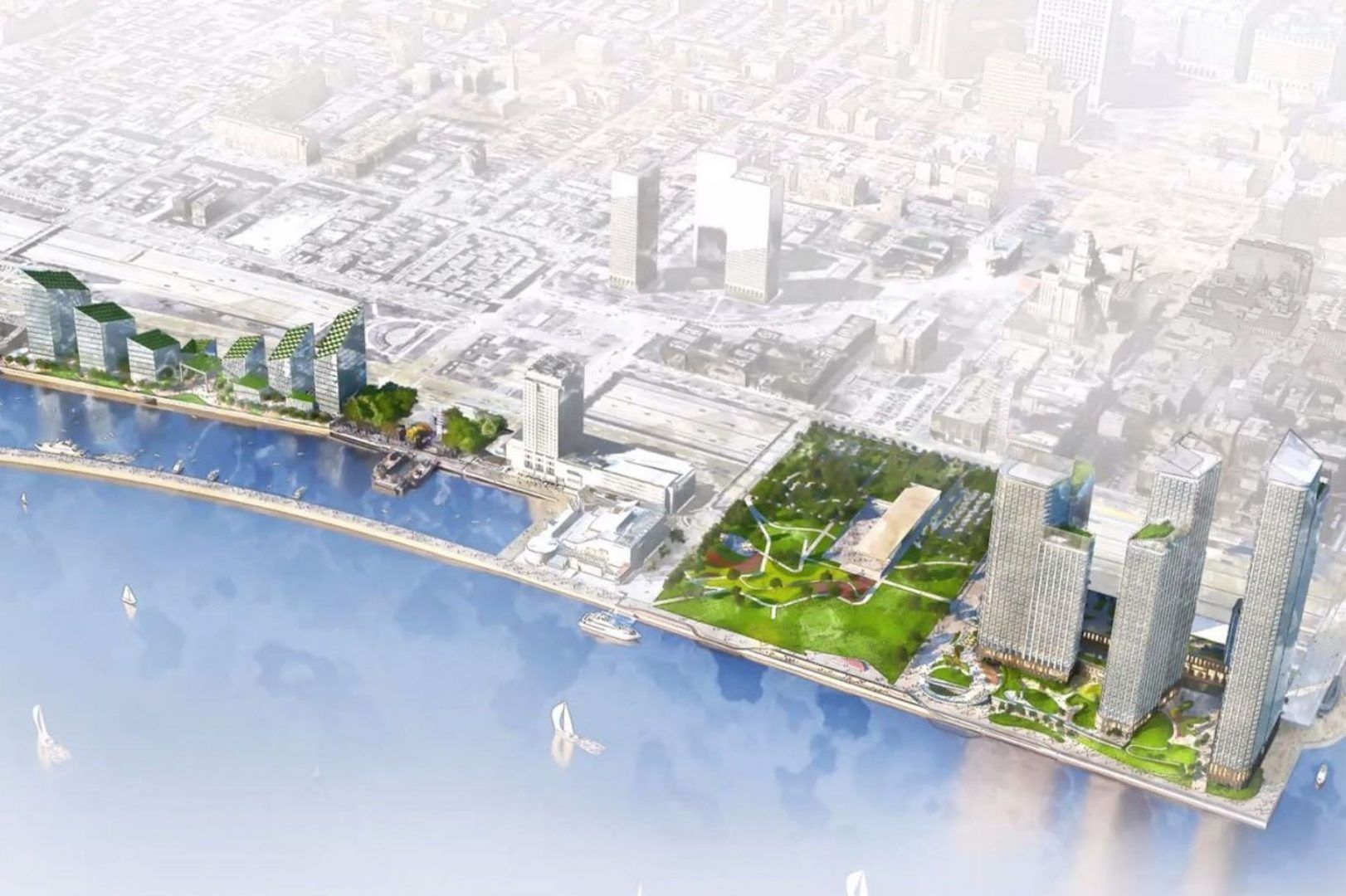 Durst Tapped For 2 2b Riverfront Redevelopment Scheme In Philadelphia Riverfront Waterfront Architecture Energy Efficient Heating