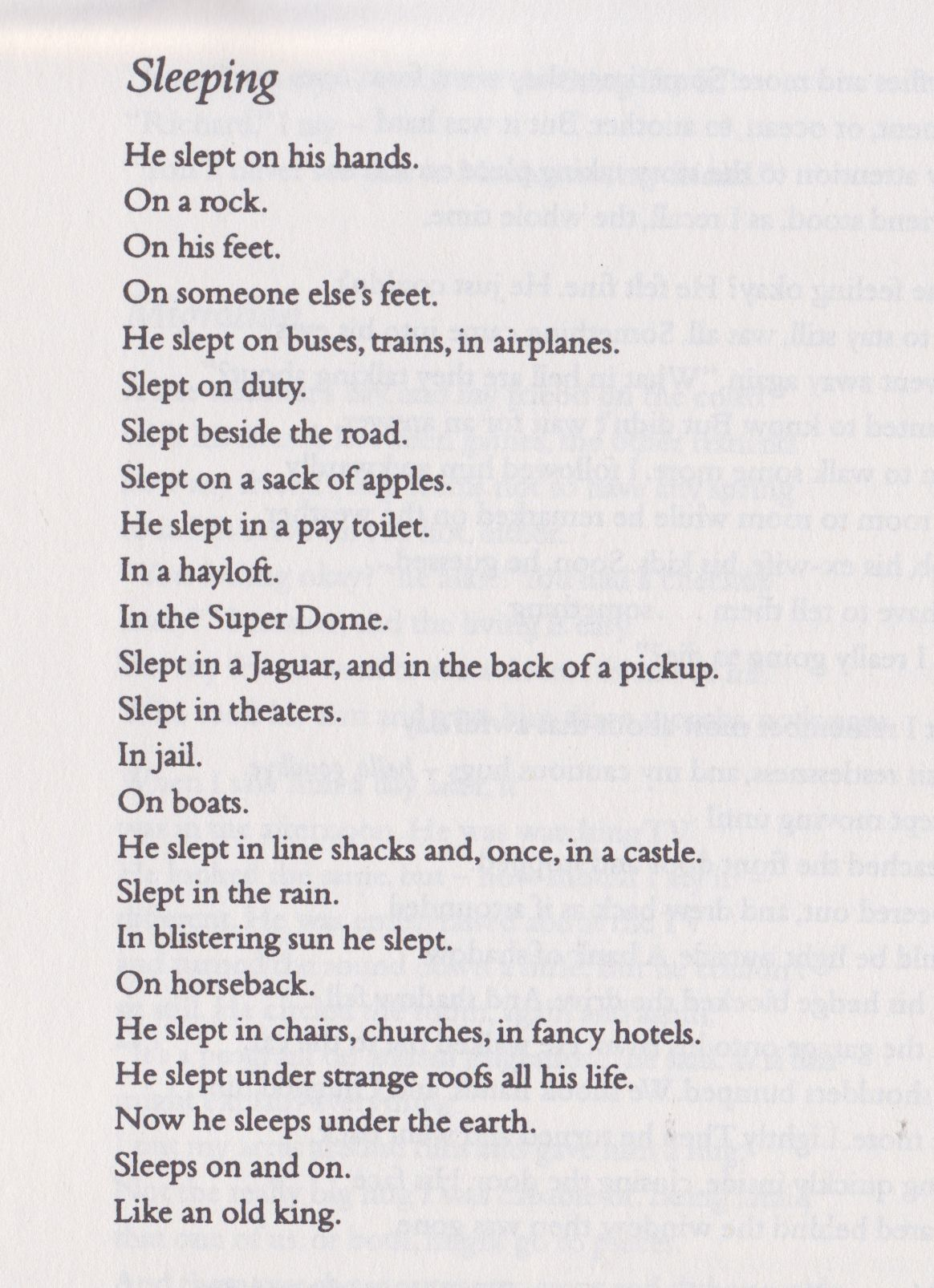 likeafieldmouse raymond carver sleeping to or not to  raymond carver essay late fragment by raymond carver