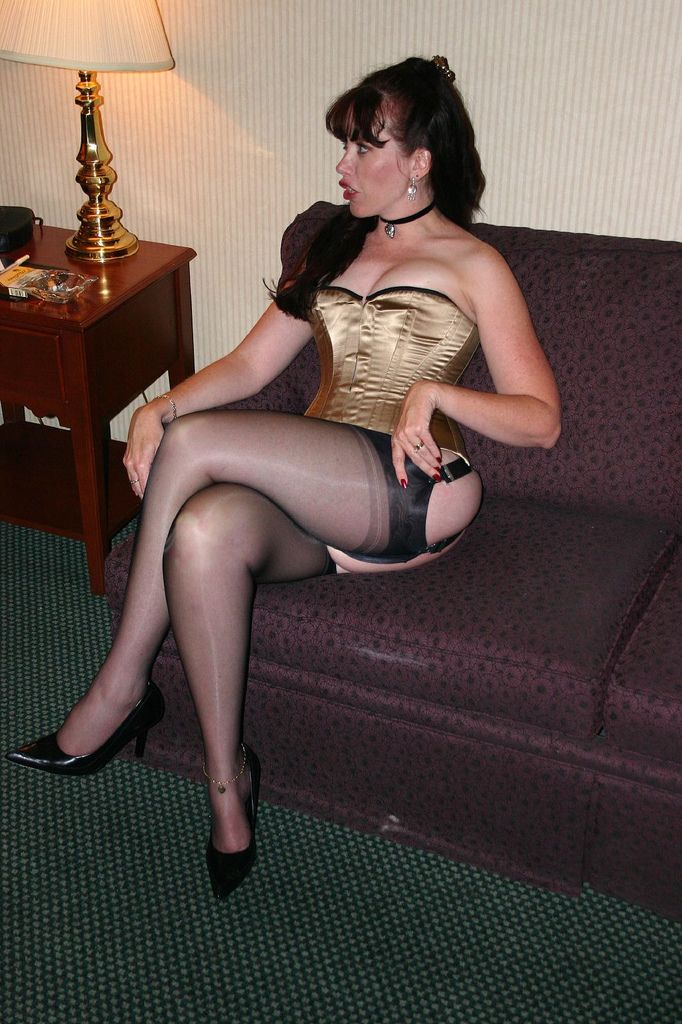 Horny bitch in seethrough heels gets a mouth full of cock and a drag of a cig 2