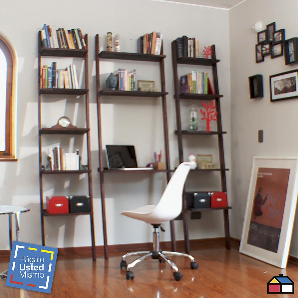 C mo hacer una repisa escritorio modular for Libro para hacer muebles