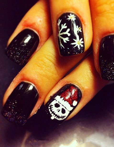 acrylic christmas nails design acrylic christmas nails for ...