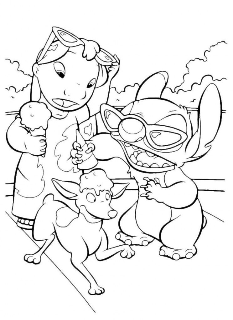 Free Printable Lilo and Stitch Coloring Pages For Kids | Colorear
