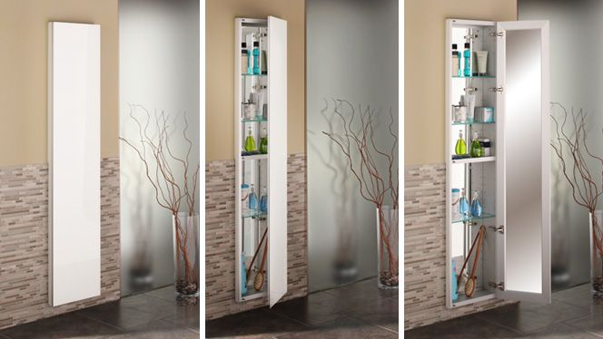 Full Length Frameless Mirrored Cabinet 3 Views Mirror Cabinets