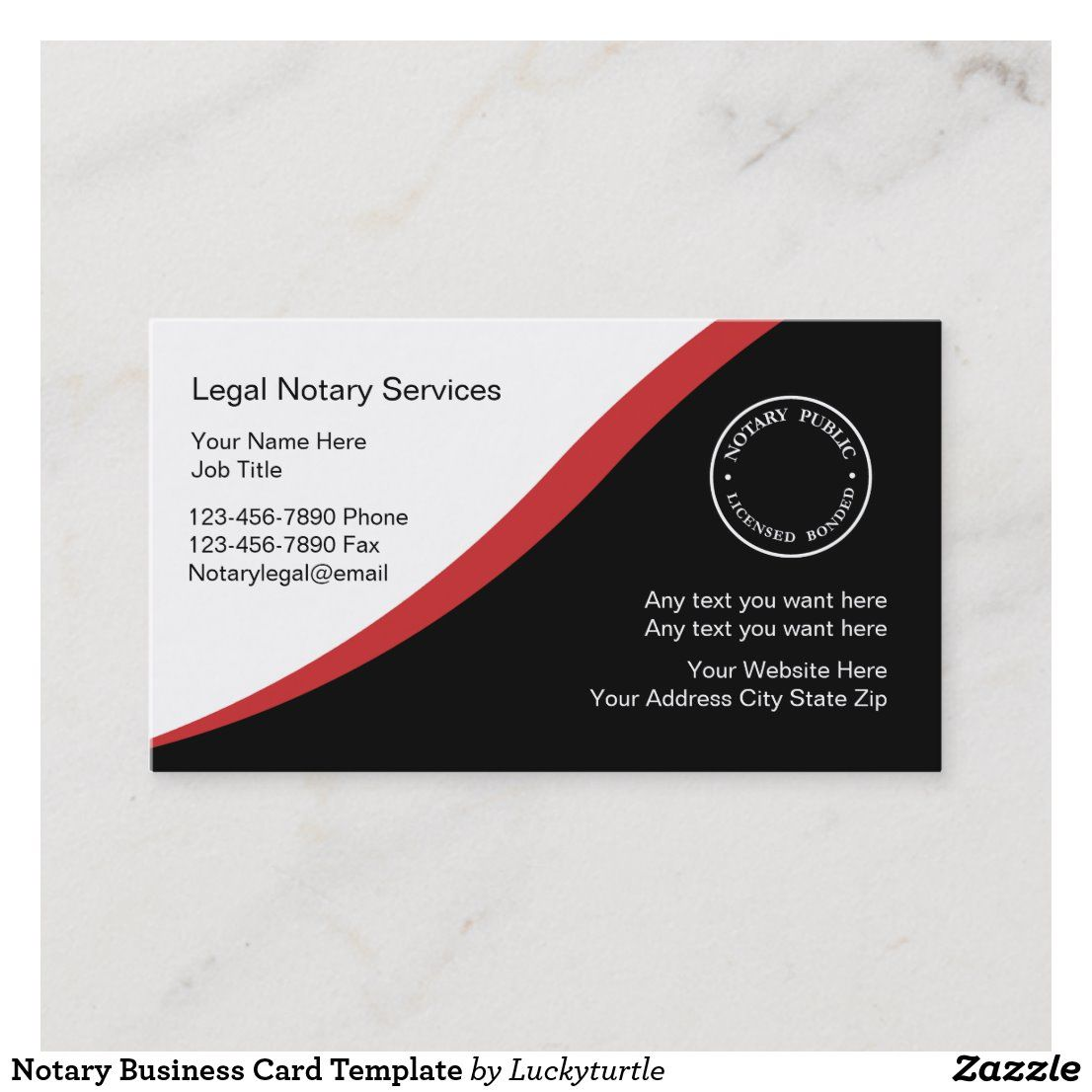 Notary Business Card Template Zazzle Com Business Card Template Google Business Card Notary
