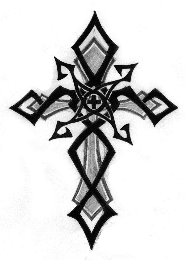Pin By Lone Rider On Tats Pinterest Tatouage Croix Tatouage And