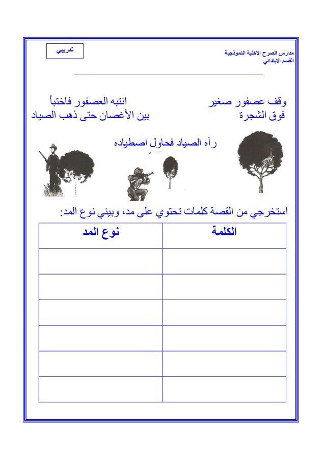 ملزمة لغتي للصف الأول الأبتدائي الفصل الثاني Apprendre L Arabe Langue Arabe Cours Arabe