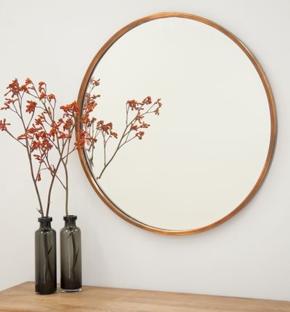 Arthur Copper Mirror Large Mirrors Round Mirrors Warranbrooke Mirrors 100 Cm Wall Mirrors Copper Mirror Mirror Round Mirrors